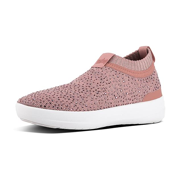 82b457c6b6f4 ÜBERKNIT. Crystal Slip-On Sneakers