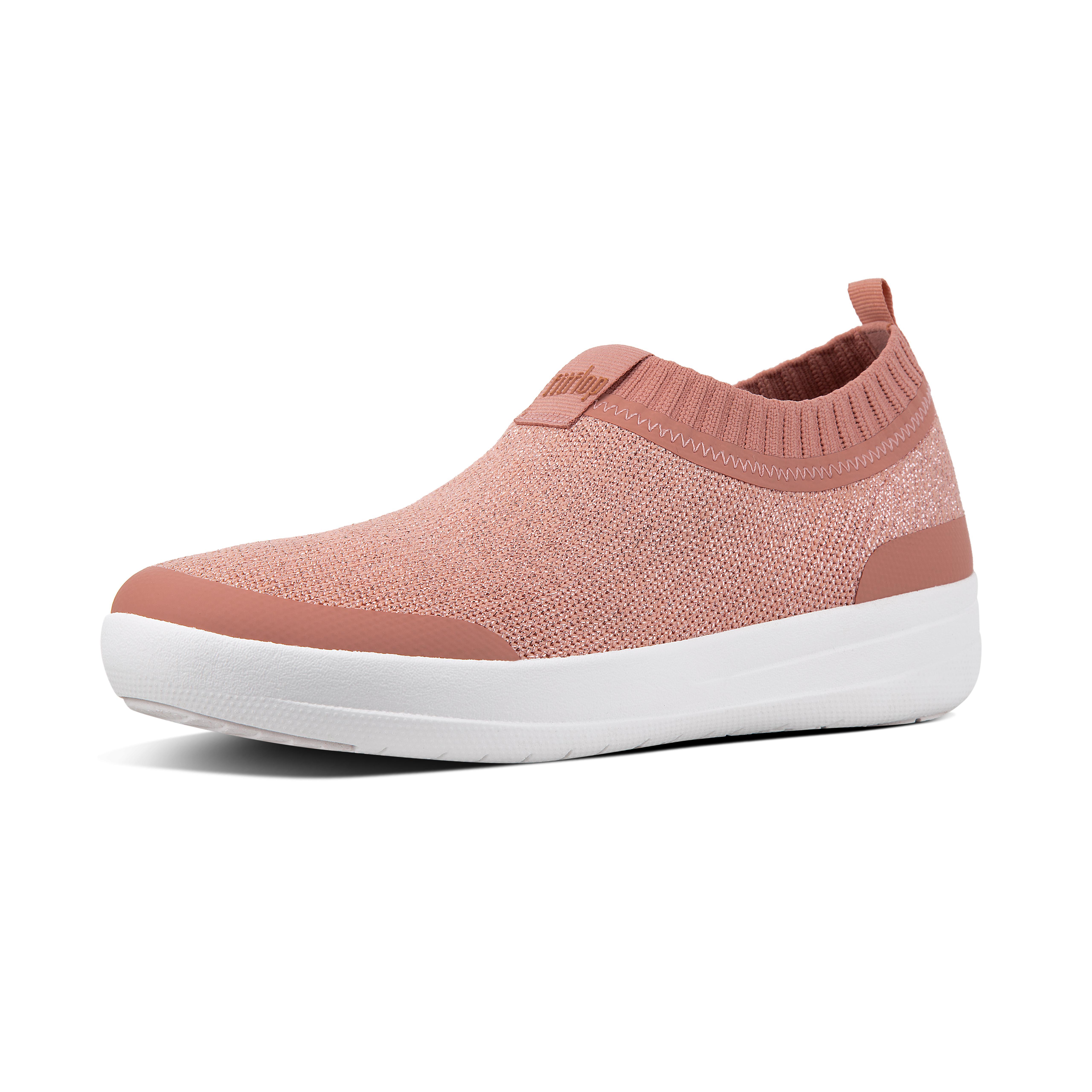 Uberknit slip on sneakers dusty pink metallic o84 612