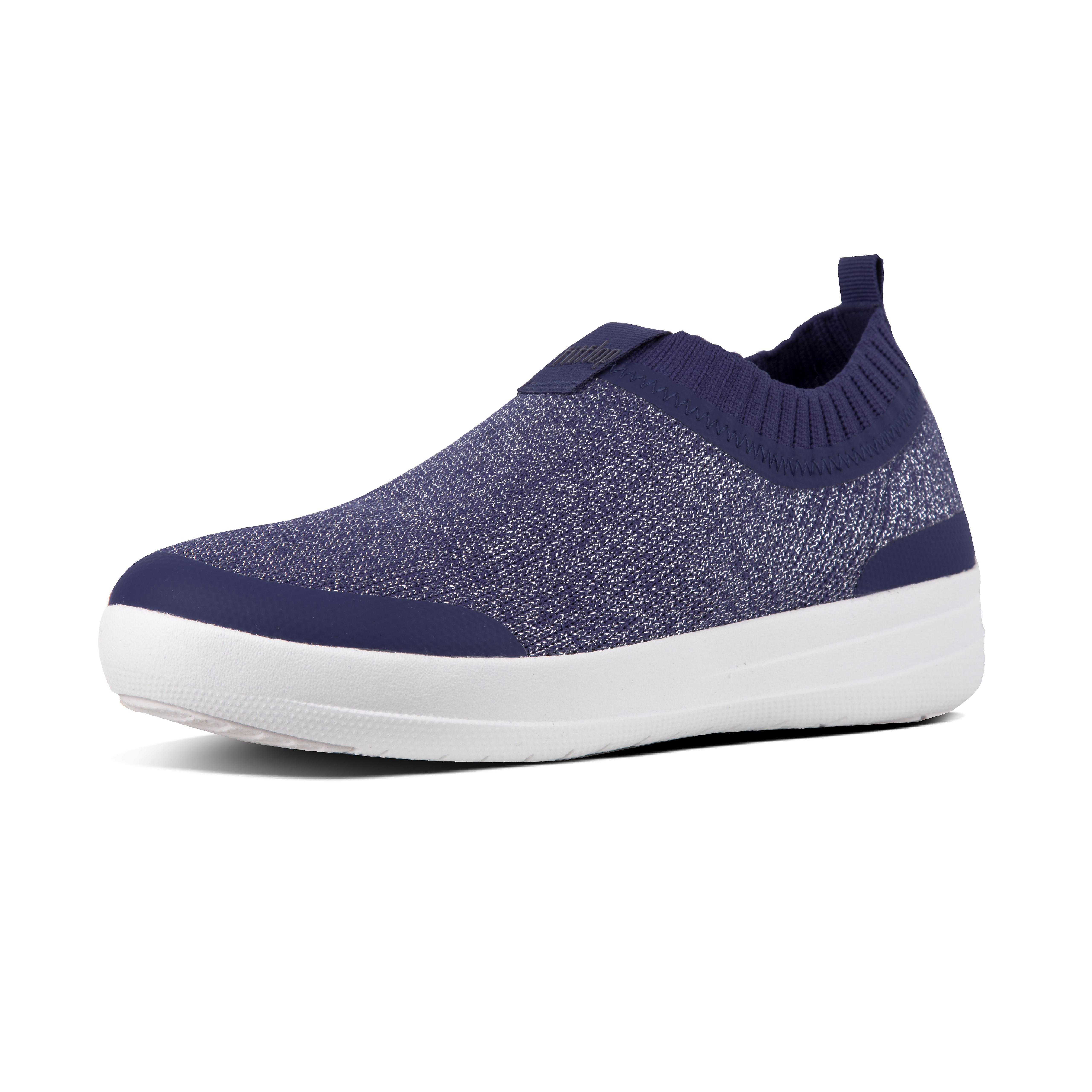 Uberknit slip on sneakers metallic blue o84 613?v=3
