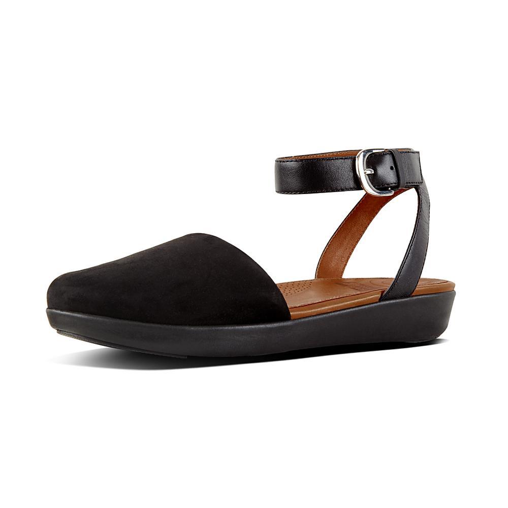NEXT Scarpe eleganti in pelle nera con cinturino alla caviglia misura 6.5
