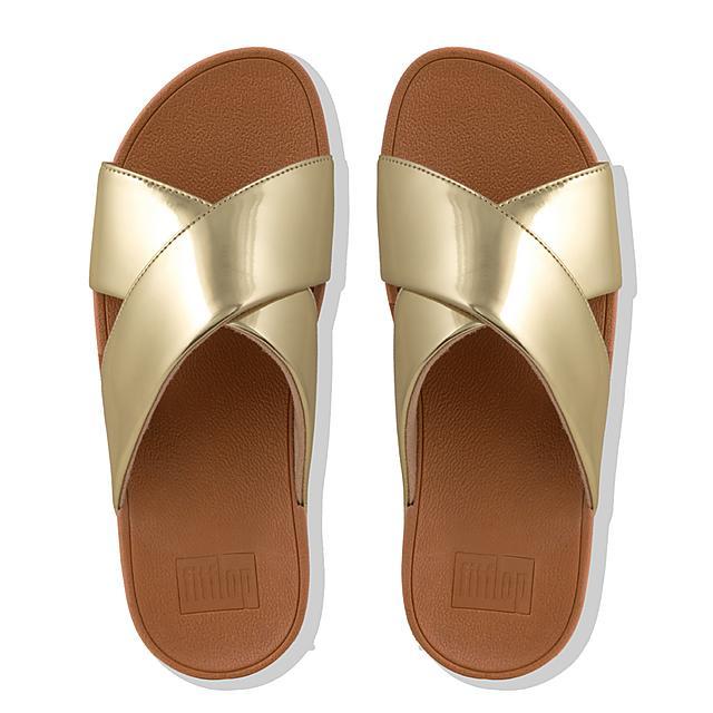 a9426c33e713e Women s LULU Faux-Leather Slides