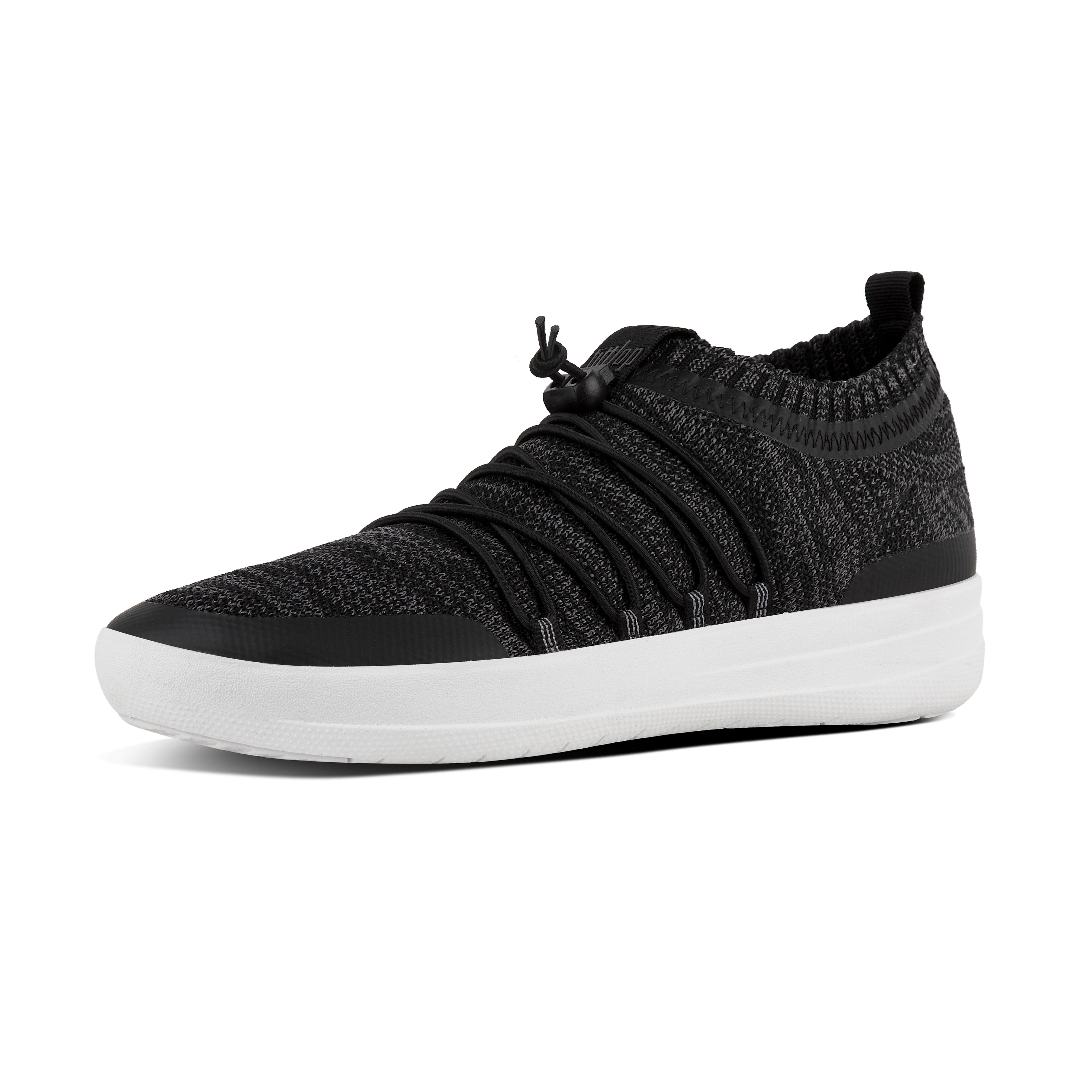 Uma uberknit slip on ghillie sneakers black soft grey l26 546