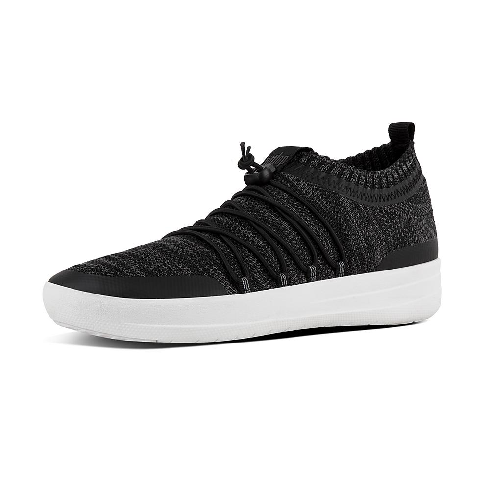 FitFlop SLIP-ON GHILLIE - Trainers - black/soft grey