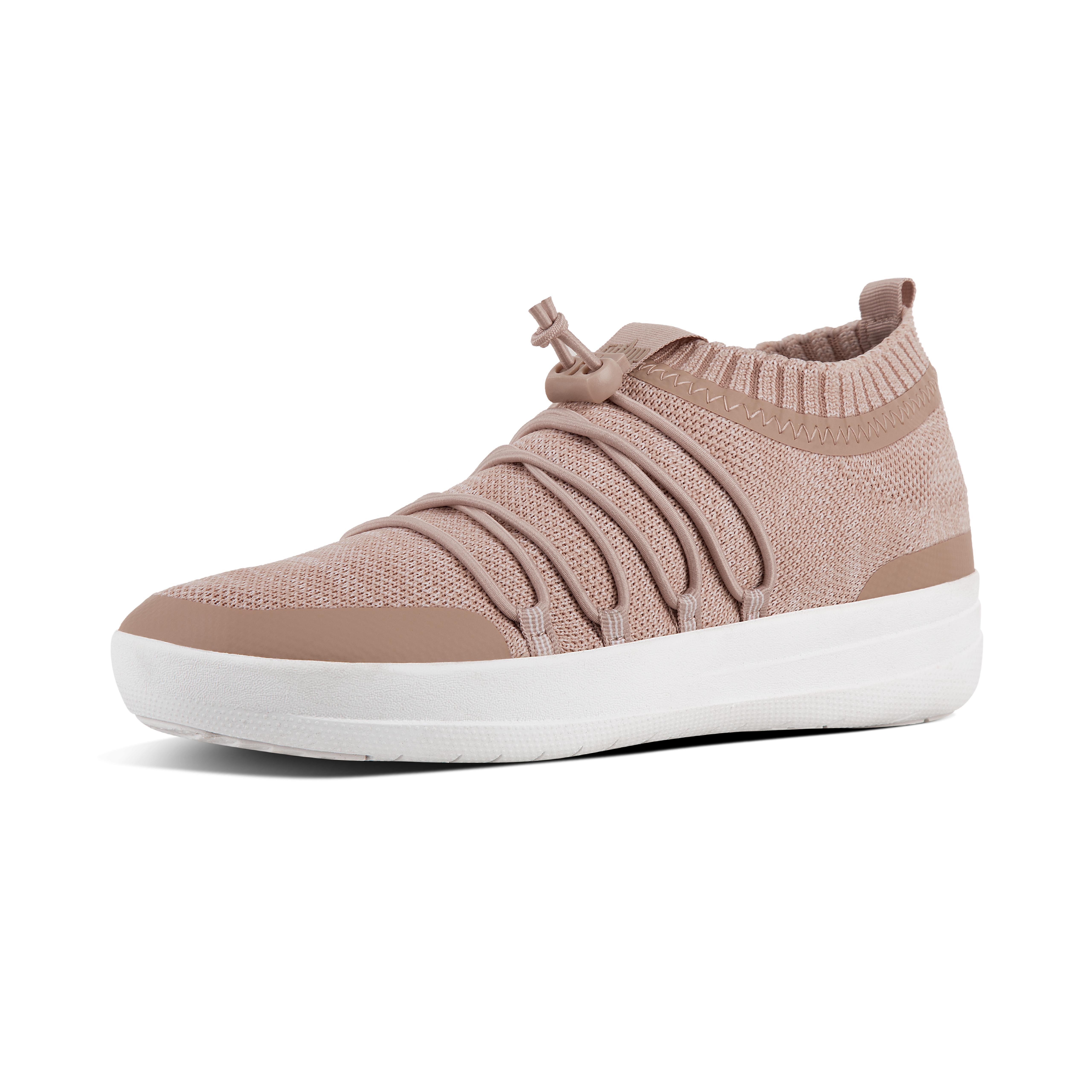 Uma uberknit slip on ghillie sneakers neon blush urban white l26 570