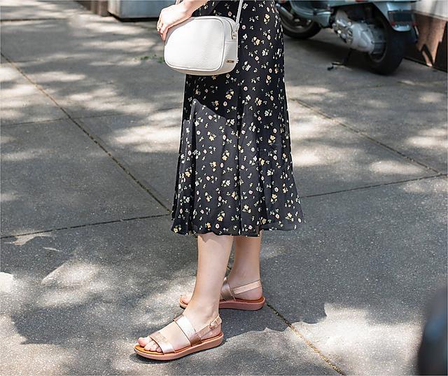 Fitflop Barra sandals in rose gold