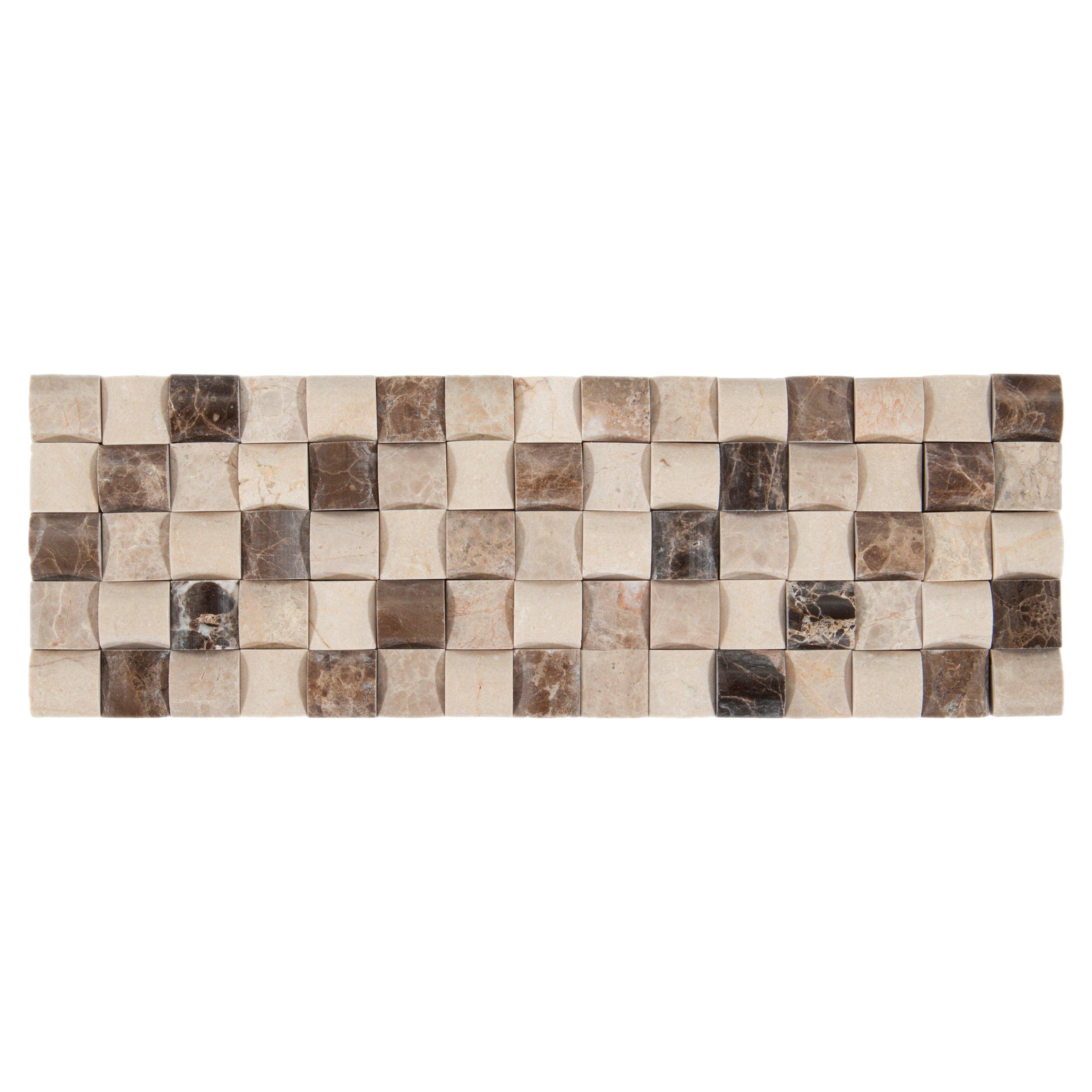 Navka Marble Mosaic Border   4in. X 12in.   100009901 | Floor And Decor