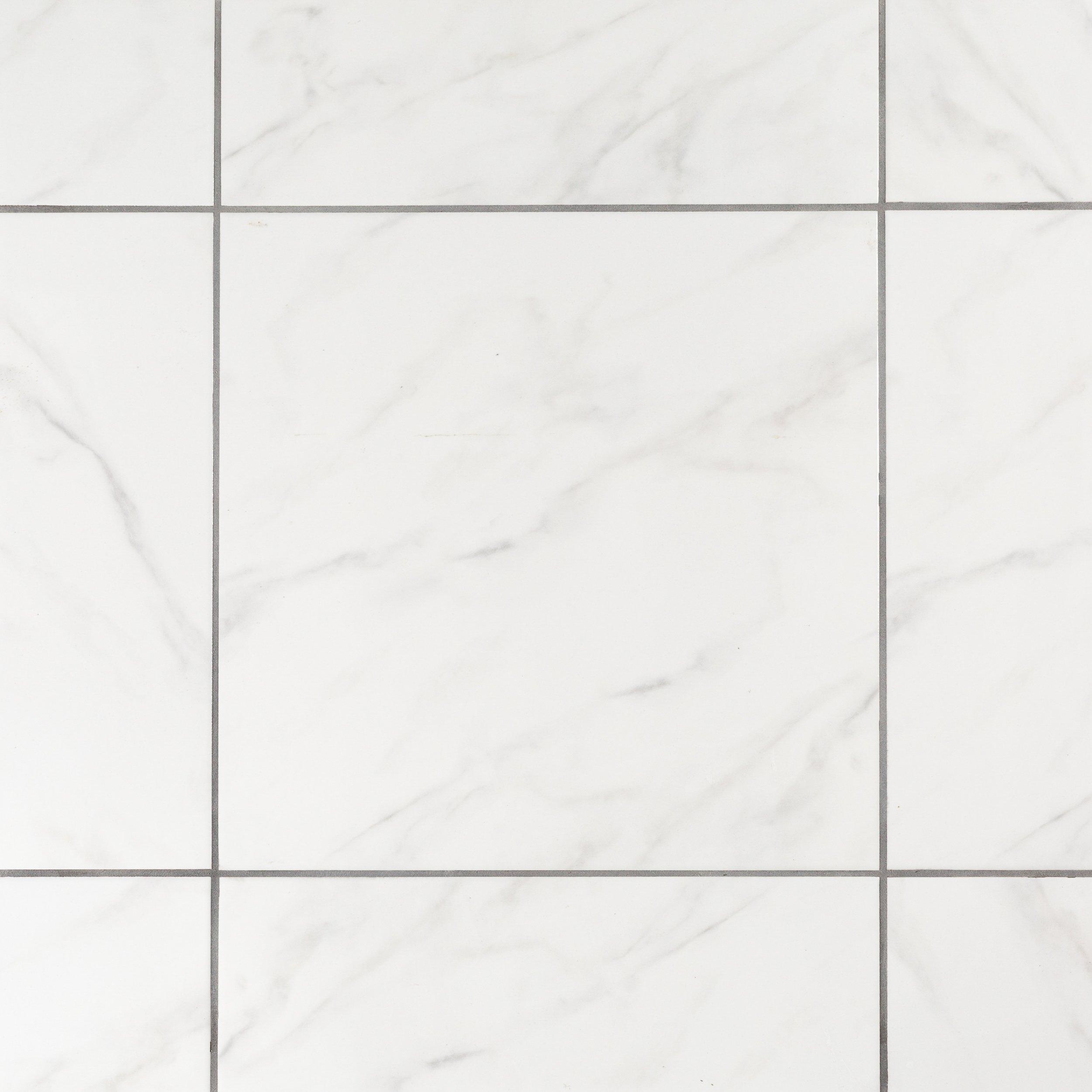 White Ceramic Floor Tiles