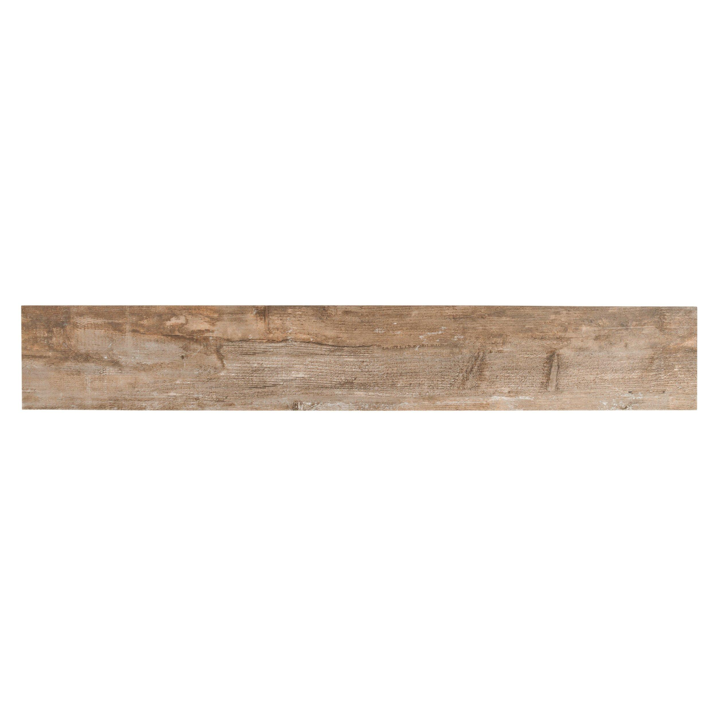 Salvage Brown Wood Plank Porcelain Tile   6in. X 40in.   100013663 | Floor  And Decor