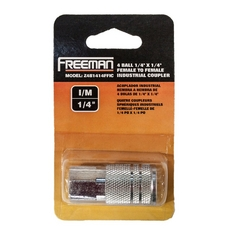 Freeman 4 Ball Female to Female Industrial Coupler 1/4in. x 1/4in.