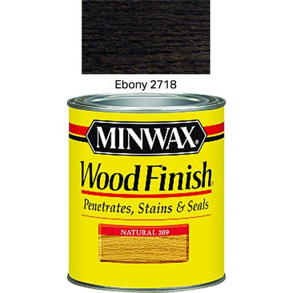 Minwax 70013 Ebony Interior Wood Finish Stain