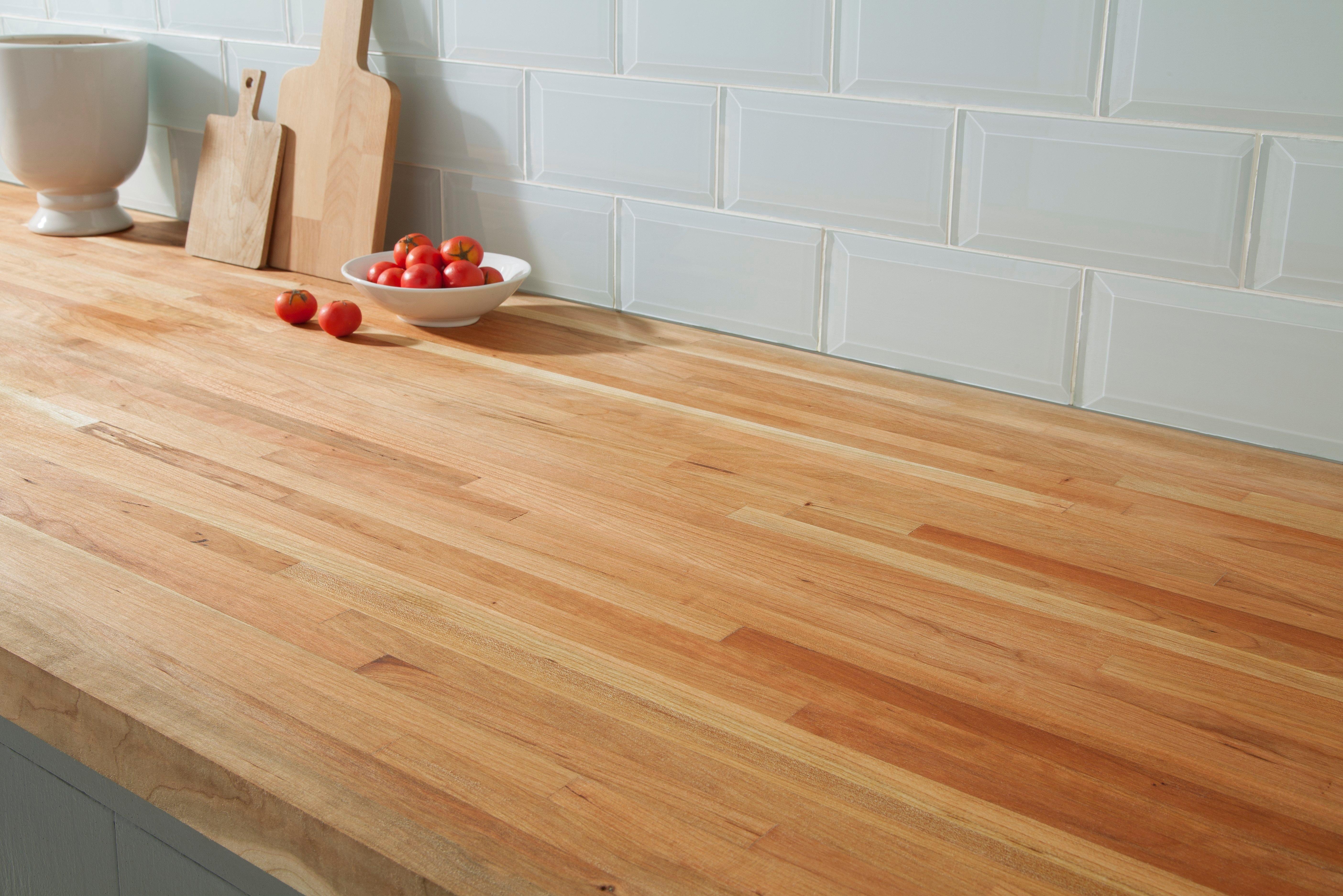 American Cherry Butcher Block Countertop 8ft 96in X 25in 100020650 Floor And Decor