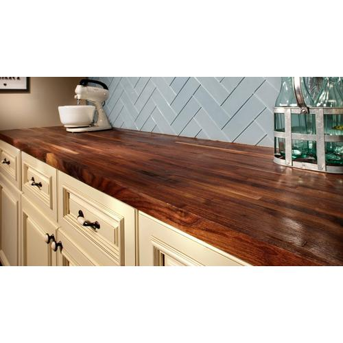 American Walnut Butcher Block Countertop 12ft 144in X 25in 100020684 Floor And Decor