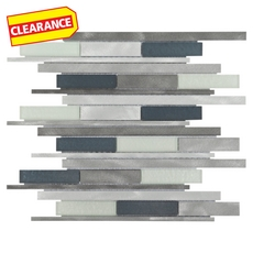 Clearance! Metallico Linear Metal and Glass Mosaic