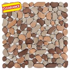 Clearance! Metallico Earth Pebble Stone Mosaic