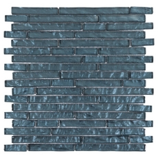 Dream Midnight Blue Linear Glass Mosaic