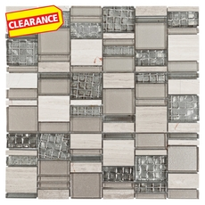 Clearance! Parana Beach Pattern Glass Mosaic