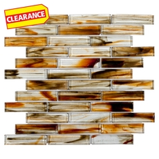 Clearance! Twilight in Rio Linear Glass Mosaic