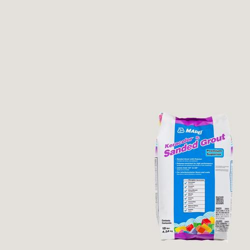 Mapei 00 White KeraColor Sanded Grout - 10lb  - 100035252   Floor
