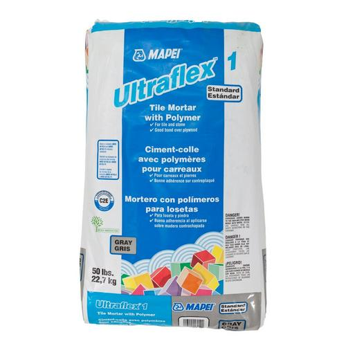 Mapei UltraFlex-1 Gray Mortar - 50lb  - 100037092 | Floor and Decor