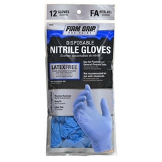Firm Grip Disposable Blue Nitrile