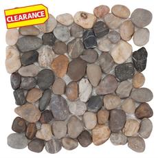 Clearance! Decorative Multi Pebble Stone Mosaic