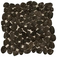 Decorative Black Pebble Stone Mosaic