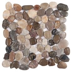 Multi Round Gloss Pebble Stone Mosaic