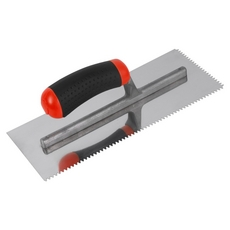 Brutus V-Notch Stainless Steel Trowel