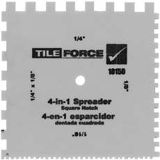 Tile Force 4-in-1 Square Notch Spreader