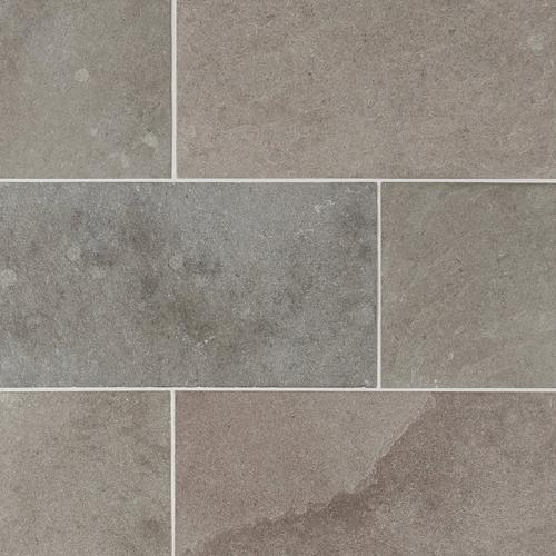 Ashford Gray Brushed Limestone Tile 12 X 24 100046812 Floor