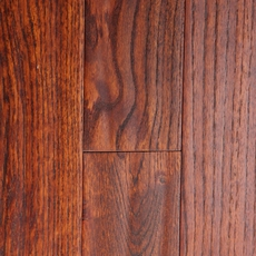 Timberclick Cognac Oak Wire Brushed Solid Hardwood