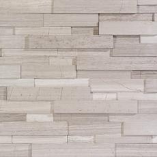 Valentino White Interlocking Panel Marble Mosaic