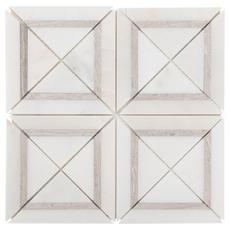 Carrara White Valentino White Framed Square Marble Mosaic