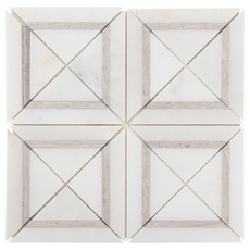 Gray and White Squares Marble Mosaic