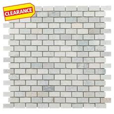 Clearance! Green Mini Brick Marble Mosaic