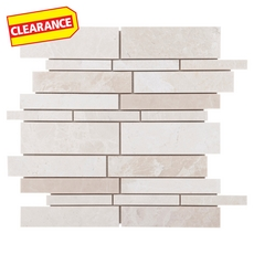 Clearance! Ice Beige Linear Stick Marble Mosaic