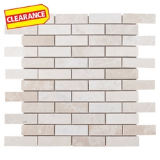 Clearance! Ice Beige Brick Marble Mosaic