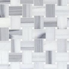 Skyfall Basketweave Maze Marble Mosaic