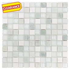 Clearance! Caribbean Green Mix Glass and Marble Mosaic