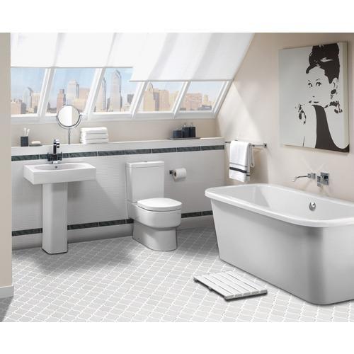 Arabesque tile floor and decor gurus floor for Floor and decor porcelain bathroom tile