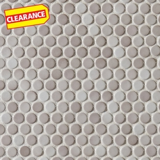 Clearance! Gray Penny Porcelain Mosaic