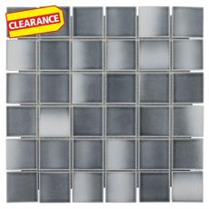 Clearance! Gray Multi Porcelain Mosaic