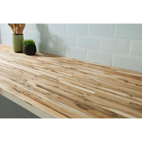Maple Builder Grade Butcher Block Countertop 8ft 96in X 25in 100054378 Floor And Decor