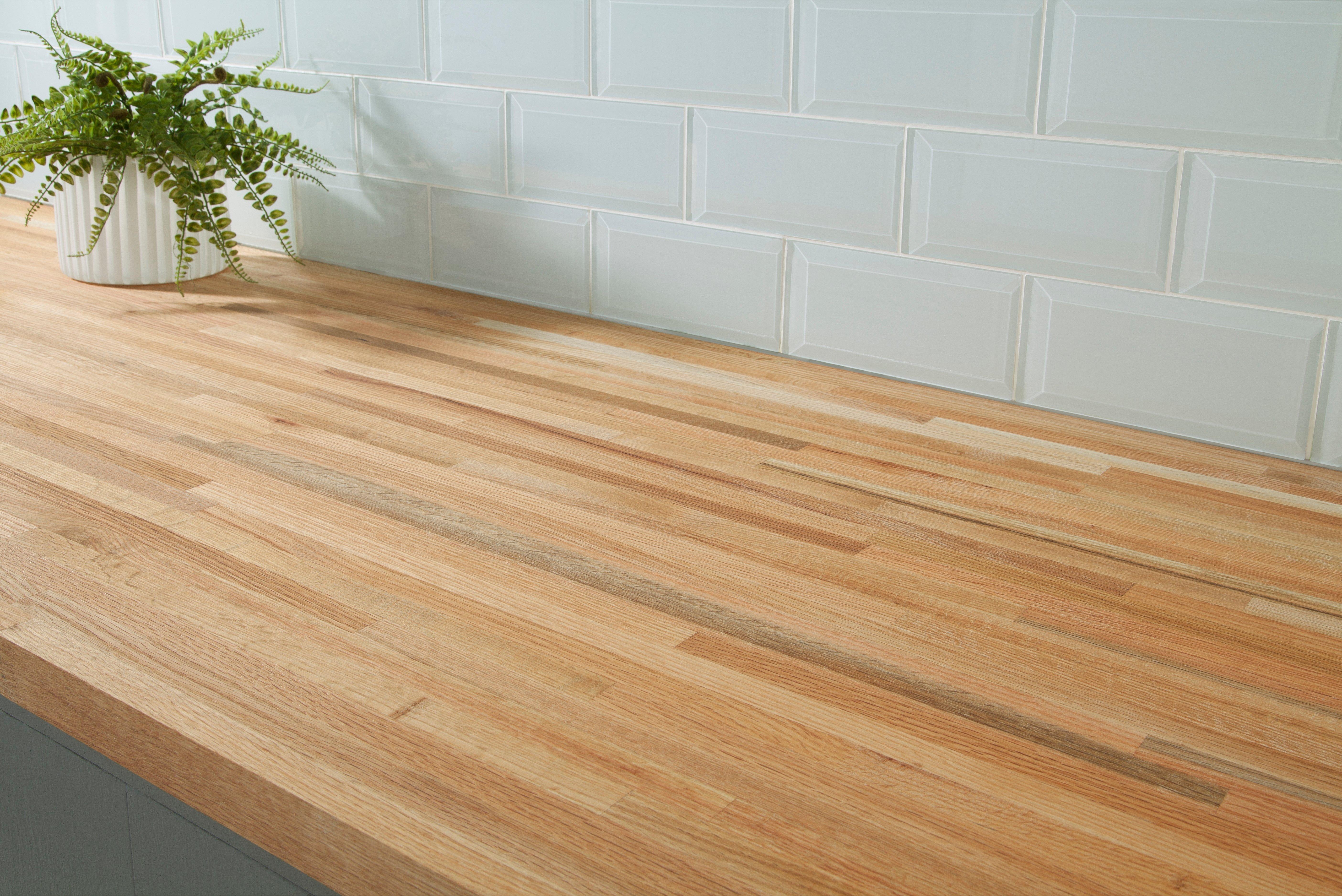 Red Oak Butcher Block Countertop 12ft 144in X 25in 100065085 Floor And Decor