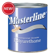 New! Masterline Polyurethane Semi-Gloss Wood Finish 1 quart