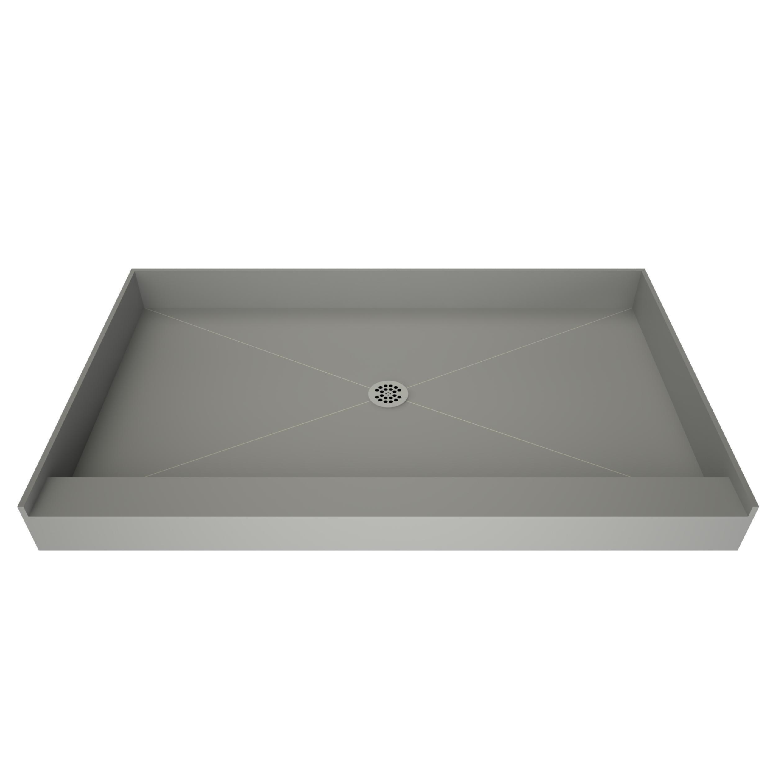 Tile Redi Single Curb Shower Pan With Center Drain   37in. X 60in.    100067164 | Floor And Decor
