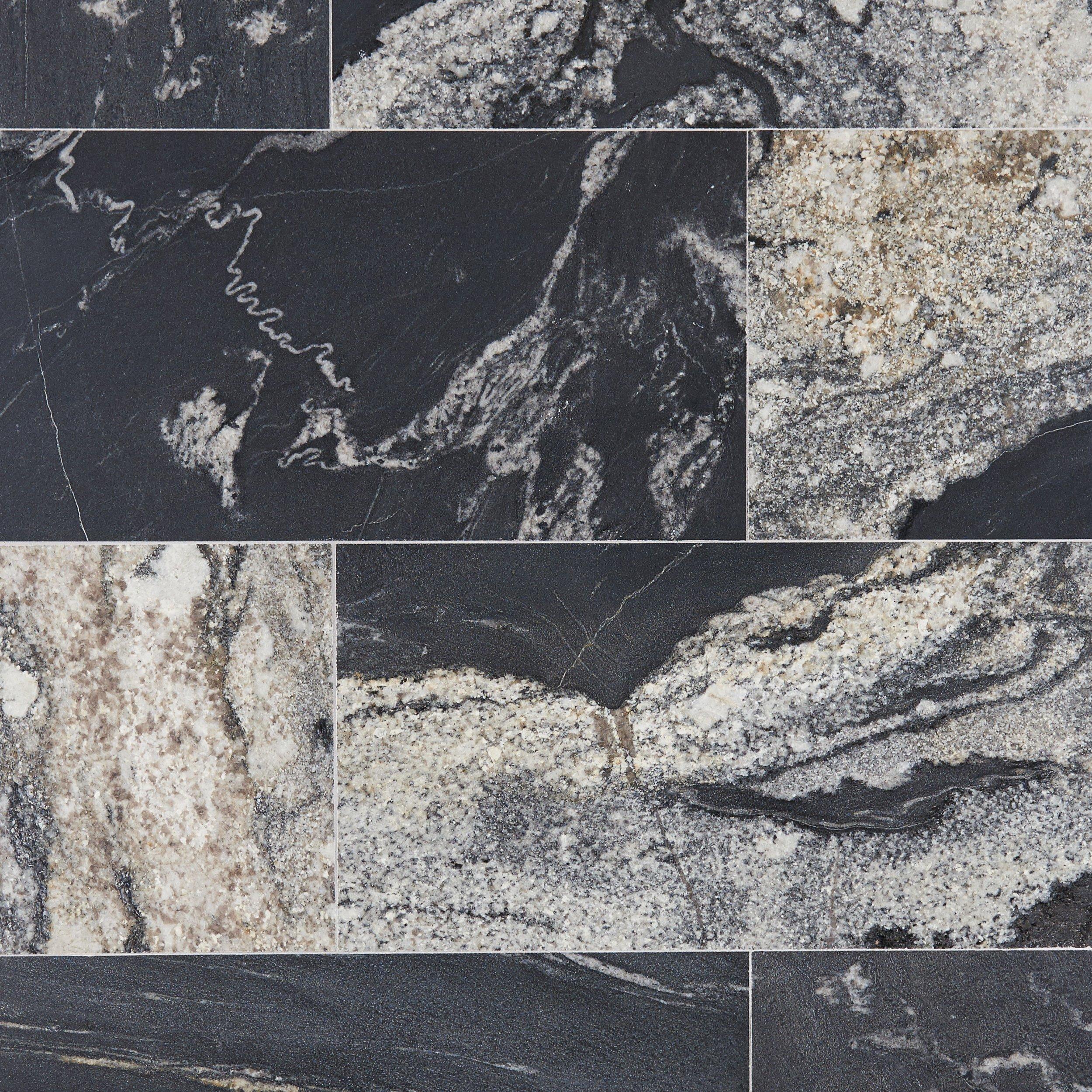 nero athens vein cut brushed granite tile