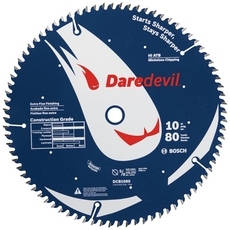 Bosch Daredevil 80-Tooth Table and Miter Extra-Fine Finish Saw Blade