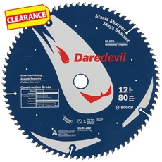 Clearance! Daredevil 80-Tooth Table and Miter Extra-Fine Finish Saw Blade