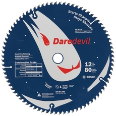 Daredevil 80-Tooth Table and Miter Extra-Fine Finish Saw Blade